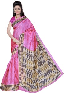 Winza Designer Self Design Bhagalpuri Silk Cotton Blend Saree
