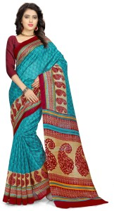 Yetnik Printed Bollywood Silk Cotton Blend Saree