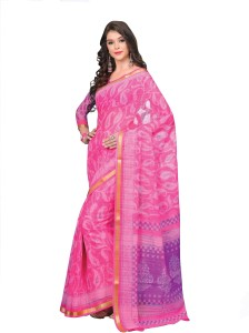 fe26ce2336 Miraan Printed Daily Wear Chanderi Saree Pink Best Price in India ...