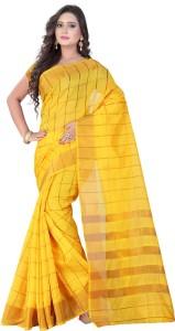 VASTRAKALA Checkered Bollywood Cotton, Silk Saree