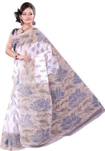 Vastrakala Floral Print Fashion Cotton Saree
