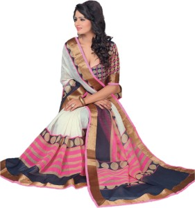 Lady Sringar Geometric Print Bollywood Silk Cotton Blend Saree