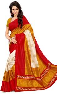 3f0dee5a3 DESIGN WILLA Printed Mysore Art Silk Saree Multicolor Best Price in ...