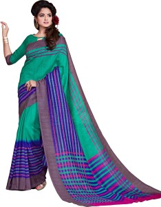 MYRRAETHNIC Printed Fashion Cotton Saree