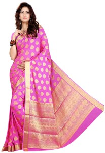 fa7f78e648 Roopkala Silks Woven Mysore Georgette Saree Purple Best Price in ...