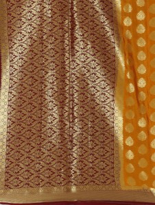 9573b024cd Right Shape Embellished Mysore Crepe Silk Saree Mustard Best Price ...