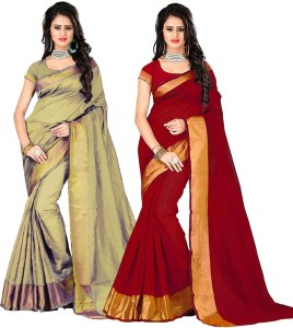 6feeecb955de6d Cozee Shopping Embellished Bollywood Cotton Saree Red Beige Best ...