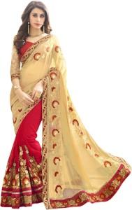 79e61f77b Indian E Fashion Embroidered Self Design Bollywood Georgette Saree ( Red )