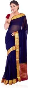 Roopkala Silks Solid Mysore Chiffon Saree