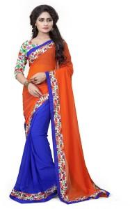 Aashvi Creation Floral Print Fashion Georgette Saree