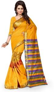 Style U Embellished Kanjivaram Handloom Art Silk, Polyester Saree