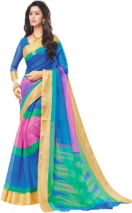 d8a87c8155 Miraan Printed Daily Wear Organza Saree Pink Best Price in India ...