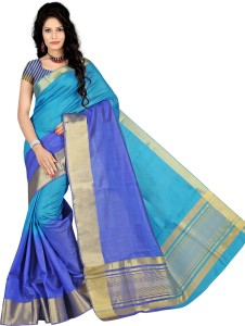 maxelegant Plain Fashion Tussar Silk Saree