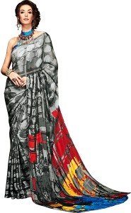 fashionzone Printed, Self Design Bollywood Pure Crepe Saree
