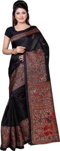Ayka Self Design, Printed, Floral Print Fashion Khadi, Silk Saree