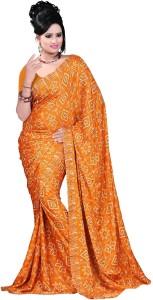 Vogue Era Self Design Bandhani Crepe Saree