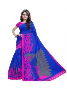Yetnik Printed Bhagalpuri Silk Cotton Blend Saree