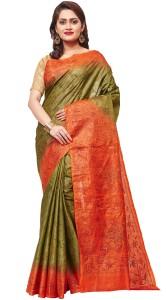 0f3499db630 RB Sarees Embroidered Katha Handloom Pure Silk Tussar Silk Saree ...