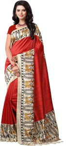 421da22b7 E Vastram Printed Bollywood Printed Silk Saree Multicolor Best Price ...