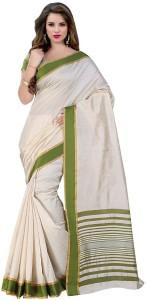 Trendz Style Printed, Striped Fashion Cotton, Cotton Linen Blend, Tussar Silk Saree
