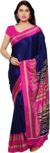 Saara Floral Print, Plain, Solid, Printed, Striped Daily Wear Crepe Saree