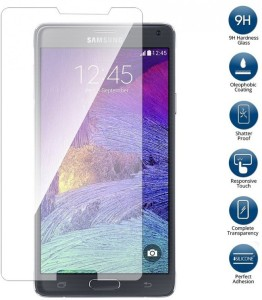 Peezer Tempered Glass Guard for Samsung Galaxy Note 4