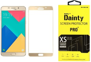 Dainty Tempered Glass Guard for Samsung Galaxy A9 Pro (6 inch, Gold) (Full Screen Coverage)
