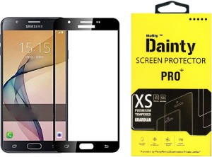 Dainty Tempered Glass Guard for Samsung Galaxy J7 Prime (5.5 inch, Black) (Full Screen Coverage)
