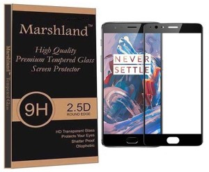 Marshland Tempered Glass Guard for One Plus 3 (Black)