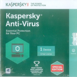 Kaspersky Anti-virus 2016 1 PC 1 Year