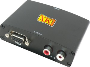 MX HDMI input to Analog VGA Video & Coaxial audio Converter Media Streaming  DeviceBlack
