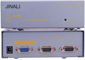 Jinali 2 Port VGA SPLITTER 1X2 250 MHz Media Streaming Device