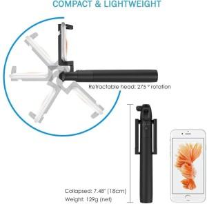 e3fcf070dab42d Zaap Nustar 4 Extendable Premium Selfie Stick Black Best Price in ...
