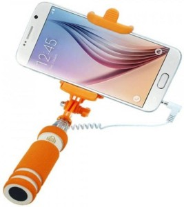 promo code 6daa2 4fa08 Junaldo Selfie Stick-mini with Aux cable for Iphone Android, window phone,  No bluetooth, No charging required (assorted Colors) Selfie StickMulticolor