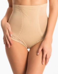 b3080b04144 PrettySecrets Nude Lacy High Waist Shaping Brief Women s Shapewear Best  Price in India