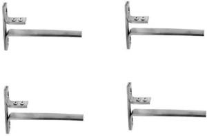 Smart Shophar Stainless Steel Glass Shelf Bracket F Type rectangle 4 Pc 6 Inches :: 8 5.08cm X 5.08cm Shelf Bracket