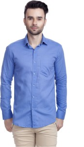 a5a52218329c Variksh Men s Solid Casual Blue Shirt Best Price in India