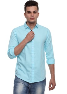 7e06bf923648 Cotton Tree Men s Solid Casual Light Blue Shirt Best Price in India ...