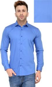 Being Fab Men's Geometric Print Casual Light Blue Shirt