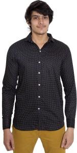 Oshano Men's Printed Casual Black Shirt