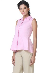 a5fddc09bf3ac5 Kaaryah Women s Solid Formal Pink Shirt Best Price in India ...
