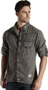 Roadster Men's Solid Casual Grey Shirt