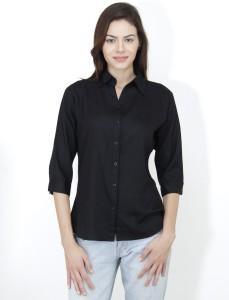 Mayra Women's Solid Casual Black Shirt