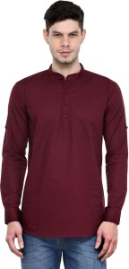 Being Fab Men's Solid Casual Maroon Shirt