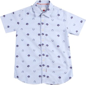 65bf1076 Us Polo Kids Boys Printed Casual Blue Shirt Best Price in India   Us Polo Kids  Boys Printed Casual Blue Shirt Compare Price List From Us Polo Kids Shirts  ...