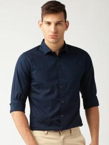 45488263de52d Oshano Men s Solid Casual Dark Blue Dark Blue Shirt Best Price in ...