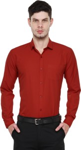 Being Fab Men's Solid Casual Red Shirt