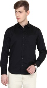 1134356e7 Derby Jeans Community Men s Solid Casual Black Shirt Best Price in ...
