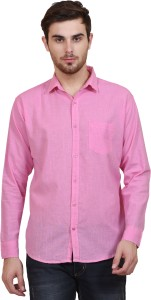 83d560ea BRULE Men s Solid Casual Linen Pink Shirt Best Price in India ...
