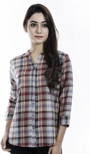 Amadore Women's Checkered Casual Multicolor Shirt